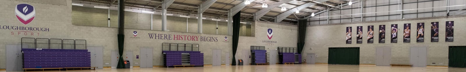 Sir David Wallace Sports Hall Banner